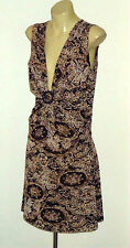 FORELLE XtremeLowCutBrownPrintShortDress SzS&M as NEW