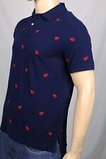 Ralph Lauren Navy Custom Fit Mesh Lobster Shirt Polo NWT