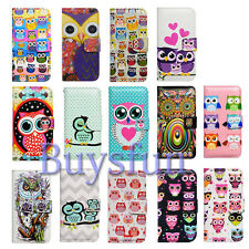 Bcov Colorful Smart Owl Leather Wallet Case Cover For iPhone 4 5 5S 5C 6 6 Plus