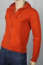 Polo Ralph Lauren Orange Hoodie Full Zip Sweatshirt Green Pony NWT