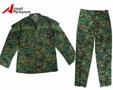 Military Special Force Army Tactical BDU Uniform Shirt Pants Digital Woodland