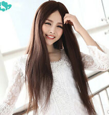 Fashion Long Straight Wig Anime No Bangs Women Hair Wigs Cosplay Wigs Synthetic