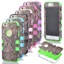 High Impact Camo Realtree Heavy Duty Combo Matte Case Cover For iPhone 6 6S Plus