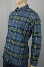 Polo Ralph Lauren Blue Green Plaid Button Down Custom Fit Oxford Dress Shirt NWT