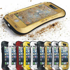 Rugged Aluminum Metal Bumper Tempered Glass Waterproof Case For iPhone Series
