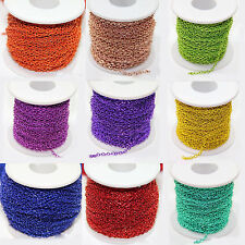 Lots 2/5/10/100Yds 3x2mm Cable Iron Link Electrophoresis Plated Necklace Chains