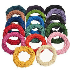 Wholesale 3/10/100M Real Leather Necklace Charms Rope String Cord 2.0 mm 8Colors