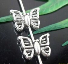 Wholesale 34/74Pcs Tibetan Silver Butterfly Spacer Beads 11x9mm(Lead-free)