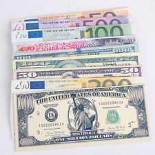 New Chic Unisex Mens Womens Currency Notes Pattern Pound Dollar Purse Wallets