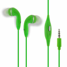 Premium 3.5mm Stereo Handsfree Headset w/ Microphone for Smart Phones - Green