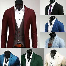 Fashion Tops Mens Slim Fit Stylish Casual One Button Suit Coat Jacket Blazers