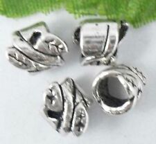 Wholesale 52/114Pcs Tibetan Silver  Spacer Beads 8x6mm(Lead-free)