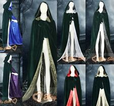 New Green Dark Christmas Hooded velvet Cloak/Cape/Coat Shawl Costume Stock