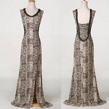 2015 DESIGNER SEXY Snake Pattern evening Clubwear Gown Pageant Long Prom dresses