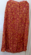 LADIES GORGEOUS BROWN TAN BEIGE SKIRT CALF LENGHT BUTTONED FLOATY S/M M/L