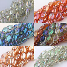 5/10Pcs Crystal Glass Stone Shape Charms Loose Spacer Beads Finding DIY 10x5mm