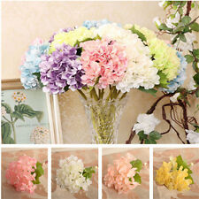Charm Artificial Hydrangea Bouquet Silk Flowers Wedding Bridal Party Home Decor