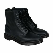 Dr. Martens Pascal Mens Blue Leather Casual Dress Lace Up Boots Shoes