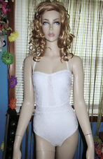 NEW nanette lepore Ooh La La EYELET SEDUCTRESS White 1 Piece SWIMSUIT S M L $164
