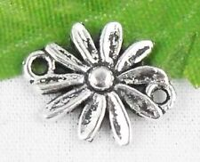 Wholesale 36/80Pcs Tibetan Silver Flower  Connectors 16x13mm(Lead-free)