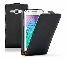 ULTRA SLIM Leather Flip Case Cover Pouch For Samsung Galaxy J1 +2 PROTECTORS
