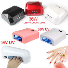 UV Nail Polish Dryer Lamp Gel Acrylic Curing UV/ LED Lamp+CCFL100-240V 36W 9W AU