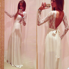 2015 Sexy Long V Back Prom Evening Party Homecoming Formal Graduation Dress Gown