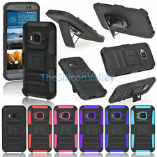 Rugged Heavy Duty Hybrid Armor Hard Impact Case Cover Skin For HTC One M9