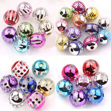 10/50Pcs Mixed Acrylic Loose Round Charms Spacer Beads Jewelry Making 10-14mm