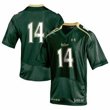 Under Armour No.14 South Florida Bulls Green Replica Football Jersey