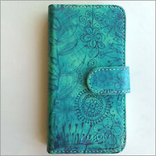 Brand new Green flower patte wallet Flip case cover for Samsung/iphone/Nokia/HTC