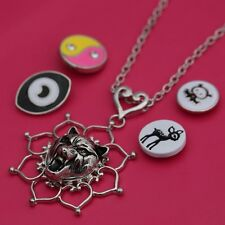 Genuine Snap It Necklace For Snap Buttons Chunk Charms Pendant Available Sliver