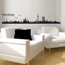 "Wandtattoo ""HAMBURG SKYLINE"" Wandsticker Wandtatoo Wandaufkleber Wand Sticker"