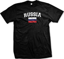 Russia Country Flag ?????? Russian Pride Football Soccer  Mens T-shirt