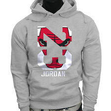 Chicago bulls Michael Air Legend 23 Jordan Mens Gray Hoodie