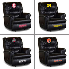 Choose Your NCAA Team Big Daddy Black Leather Recliner Arm Chair by Imperial