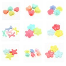 Acrylic Loose Spacer Crafts Beads Findings Mixed Candy Color Lots Fit Jewelry BS
