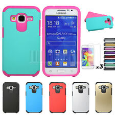 Hybrid Shockproof Armor Case Cover+LCD For Samsung Galaxy Core Prime Prevail LTE