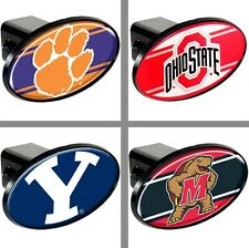 """Choose Your NCAA College Team 2"""" Trailer Hitch Receiver Cover by Great American"""