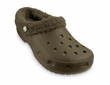 New Kids Brown MAMMOTH Fleece Lined Winter CROCS Boy 10 1 Kids