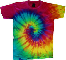 Spiral design tie dye t-shirt colorful swirl tie dye tee men's tie dye shirt