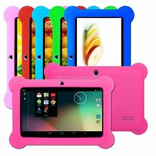 "New 8GB Android 4.4 Multi color 7"" Tablet PC MID Bundle Gel Case Bumper for Kids"