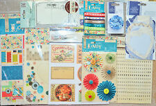 "Papermania 12"" x 12"" Sheets/Decopage Medley/Pinwheel/Ribbons/Rubber Stamp ETC"