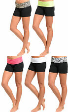 WOMENS SEXY FASHION YOGA SLIM CASUAL WORKOUT ATHLETIC RUNNING LOUNGE SHORTS S-L