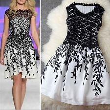 2015 NEW Sexy Women Floral Embroidery Cocktail Evening Party Sleeveless Dress