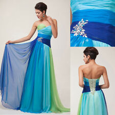 LONG Bridesmaid Formal Ball Gown OMBRE Party Evening Prom MAXI Dresses PLUS SIZE