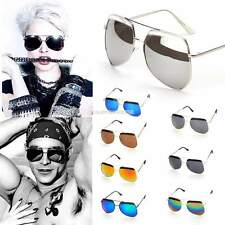 Hot Unisex Women Mens Fashion Vintage Style Sunglasses Glasses Round Metal Frame