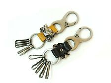 New woman Men's Motorcycle Leather Key ring Keyholder keychains Keyring Key Fob
