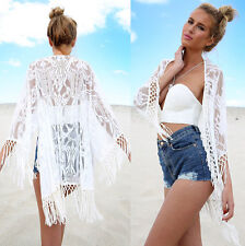 Boho Hippie Women Gypsy Kimono Lace Tops Long Cardigan Lady Bohemian beach dress