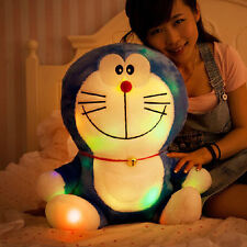 Children Colorful teddy Doraemon plush Cushion musical doll luminous birthday